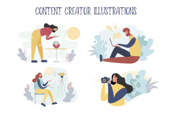 Content Creator Illustrations Graphic By switzershop
