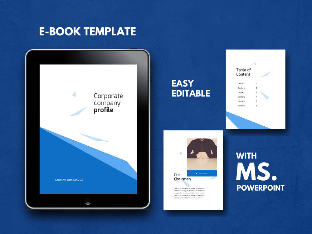 Download Free Coorporate Company Ebook Powerpoint Template Grafico Por for Cricut Explore, Silhouette and other cutting machines.