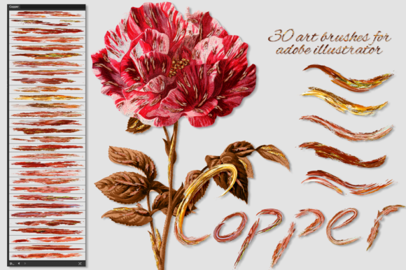 Copper Brushes for Illustrator Graphic Brushes By FaeryDesign