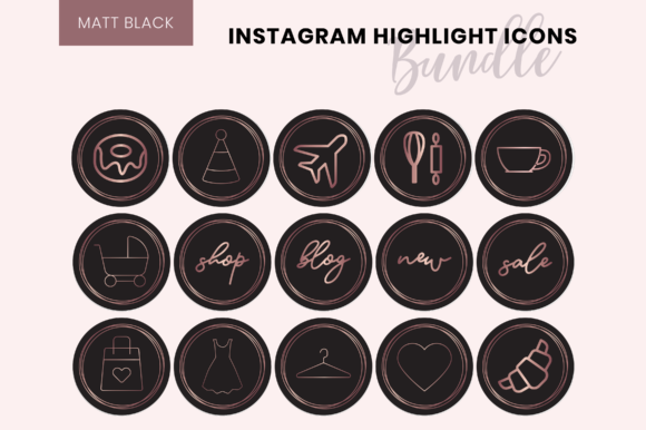Copper Instagram Highlight Covers Graphic By The Branding Place Image 3