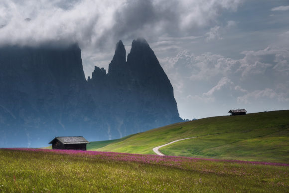 Cottages and Scenery at Seiser Alm Graphic Photos By Aleš Krivec