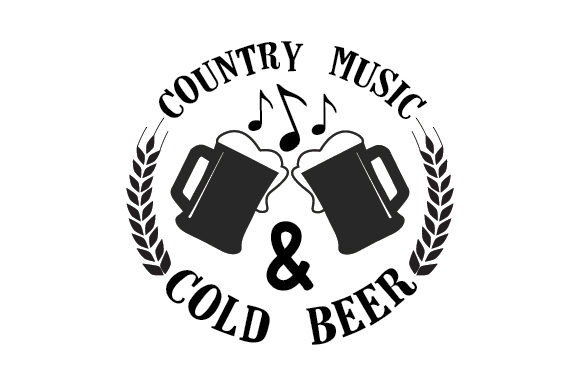 Download Free Country Music Cold Beer Svg Cut File By Creative Fabrica for Cricut Explore, Silhouette and other cutting machines.