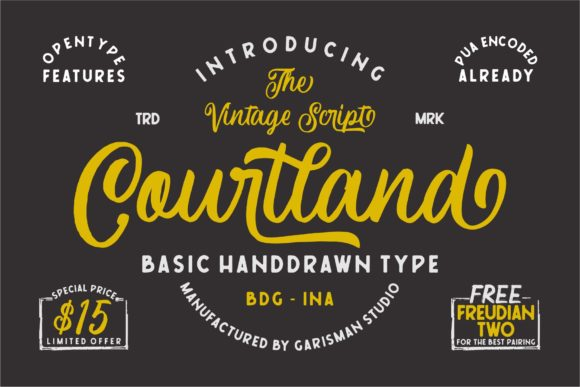 Print on Demand: Courtland Script & Handwritten Font By Garisman Studio