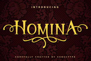 Print on Demand: Homina Display Font By Subectype