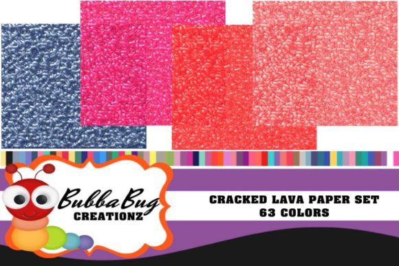 Cracked Lava Paper Set Graphic Patterns By BUBBABUG - Image 1