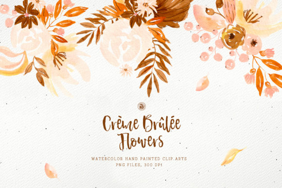 Download Free Creme Brulee Flowers Graphic By Webvilla Creative Fabrica for Cricut Explore, Silhouette and other cutting machines.