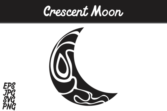 crescent moon vector image graphic by arief sapta adjie creative fabrica creative fabrica
