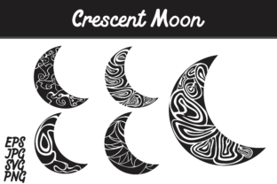 Download Free Crescent Moon Set Svg Vector Image Bunlde Graphic By Arief Sapta for Cricut Explore, Silhouette and other cutting machines.