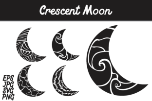 Download Free Crescent Moon Set Svg Vector Image Bunlde Graphic By Arief Sapta Adjie Creative Fabrica for Cricut Explore, Silhouette and other cutting machines.