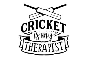 Cricket is My Therapist Australia Craft Cut File By Creative Fabrica Crafts