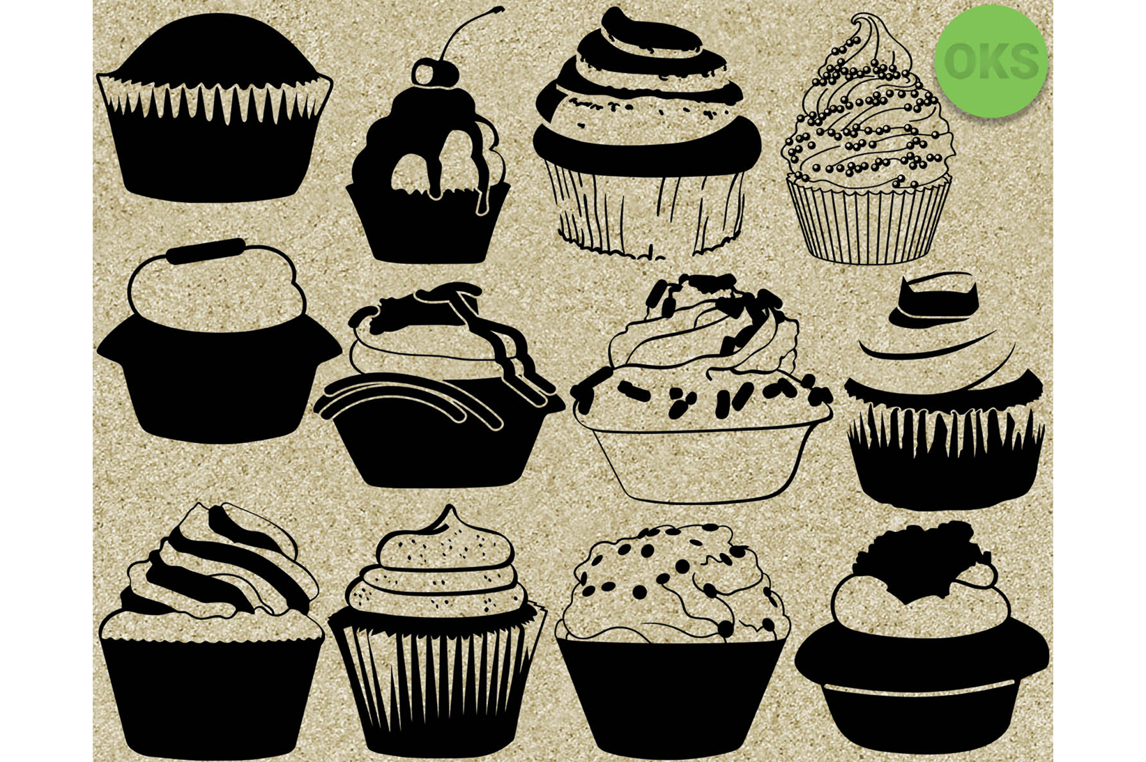 Download Free Cupcake Graphic By Crafteroks Creative Fabrica for Cricut Explore, Silhouette and other cutting machines.