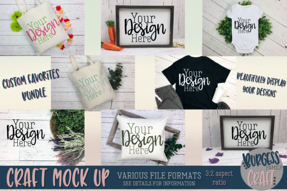 Custom Favorites Craft Mock Up Bundle Graphic Product Mockups By burgessfamilycraft