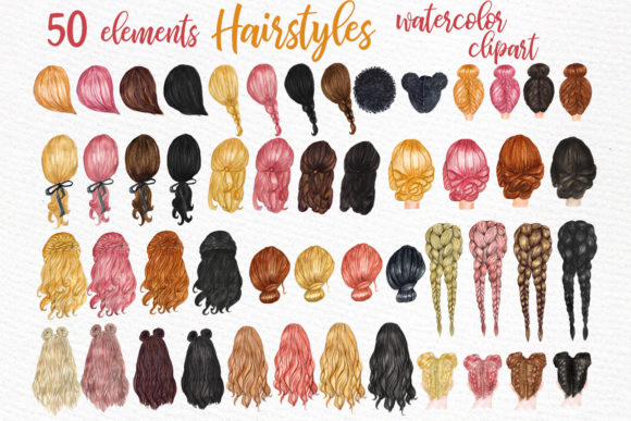 Custom Hairstyles Long Hair Graphic Crafts By LeCoqDesign - Image 2