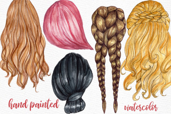 Custom Hairstyles Long Hair Graphic Crafts By LeCoqDesign - Image 3