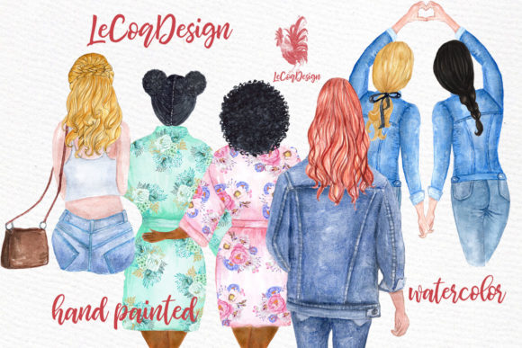 Download Free Custom Hairstyles Long Hair Graphic By Lecoqdesign Creative for Cricut Explore, Silhouette and other cutting machines.