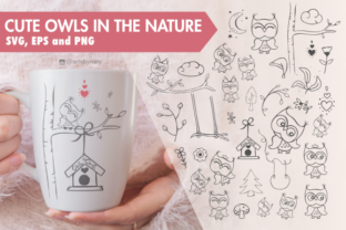 Print on Demand: Cute Owls in Nature Graphic Illustrations By artsbynaty