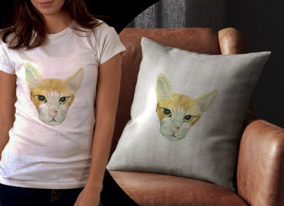 Cute Yellow Cat Graphic Illustrations By Ambar Art - Image 2