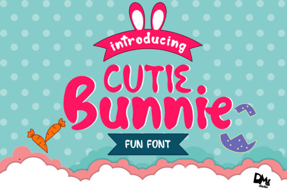 Cutie Bunnie Display Font By Sharon ( DMStd )