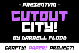 Cutout City Font By Dadiomouse