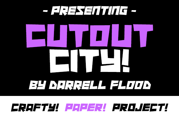 Print on Demand: Cutout City Display Font By Dadiomouse