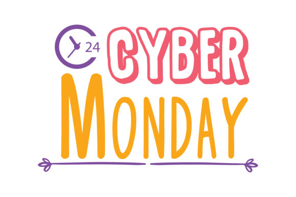 Print on Demand: Cyber Monday Quote SVG Cut Graphic Crafts By TheLucky