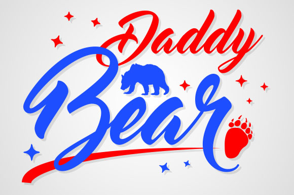 Download Free Daddy Bear Graphic By Zaibbb Creative Fabrica for Cricut Explore, Silhouette and other cutting machines.