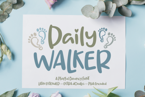 Print on Demand: Daily Walker Script & Handwritten Font By Situjuh