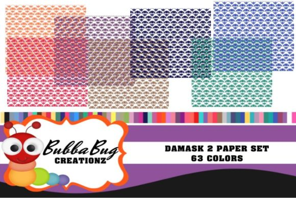 Damask 2 Paper Set Graphic Patterns By BUBBABUG