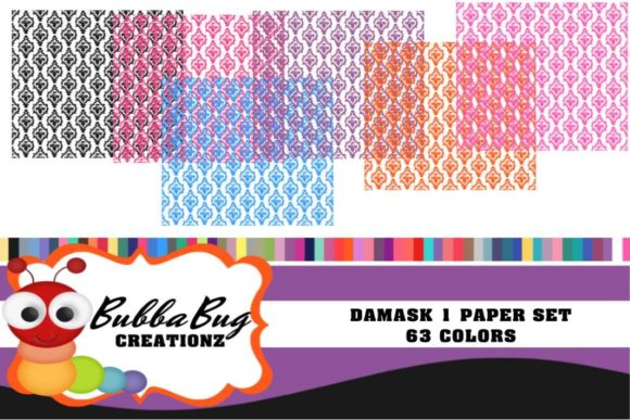 Damask Paper Set Graphic Patterns By BUBBABUG