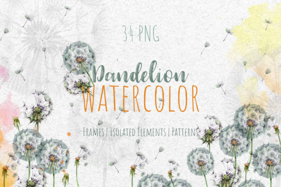 Download Free Dandelion Watercolor Png Graphic By Mystocks Creative Fabrica for Cricut Explore, Silhouette and other cutting machines.