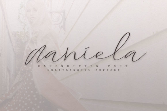 Print on Demand: Daniela Script & Handwritten Font By Katie Holland