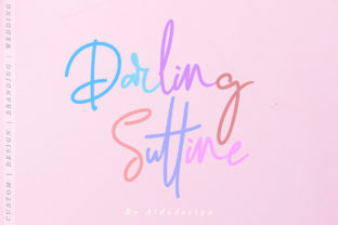 Darling Suttine Script & Handwritten Font By aldedesign