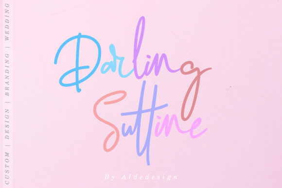 Print on Demand: Darling Suttine Script & Handwritten Font By aldedesign