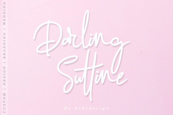 Darling Suttine Font By aldedesign Image 7