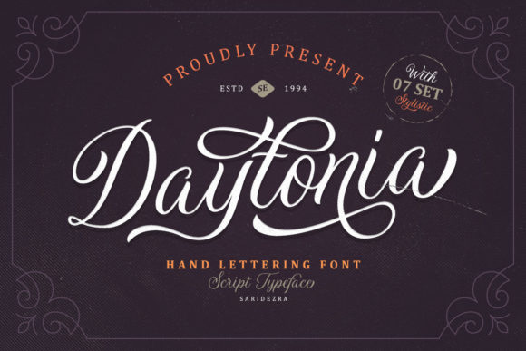 Print on Demand: Daytonia Script & Handwritten Font By saridezra