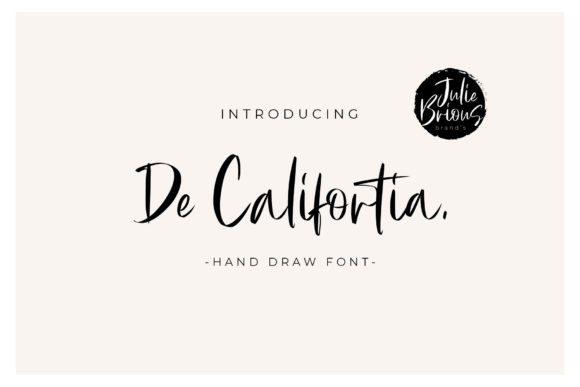 Print on Demand: De Califortia Script Display Font By Cotbada Studio