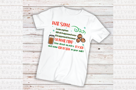 Download Free Dear Santa Svg Christmas Shirt Svg Naughty List Svg Graphic for Cricut Explore, Silhouette and other cutting machines.