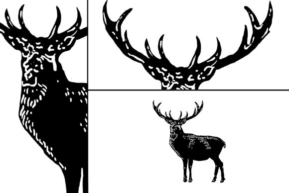 Download Free Deer Art Graphic By Sebrodbrick Creative Fabrica for Cricut Explore, Silhouette and other cutting machines.