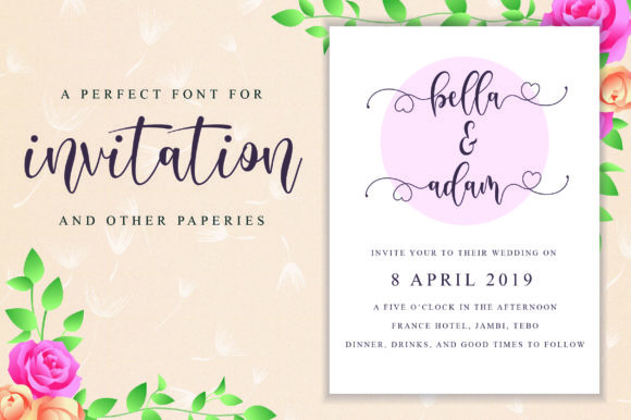 Download Free Delisha Script Font By Nissastudio Creative Fabrica for Cricut Explore, Silhouette and other cutting machines.