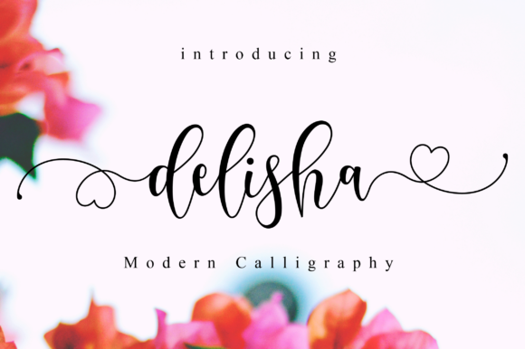 Print on Demand: Delisha Script Script & Handwritten Font By NissaStudio