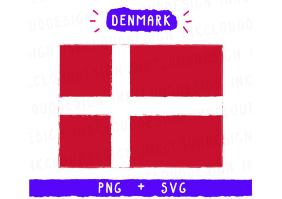 Print on Demand: Denmark Europe Graphic Icons By Inkclouddesign