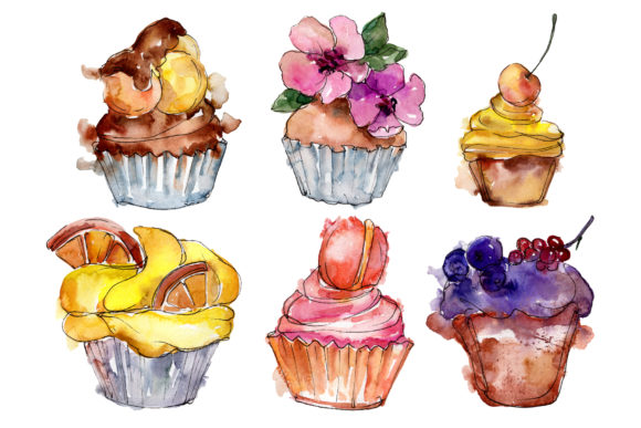 Download Free Dessert Friday Watercolor Graphic By Mystocks Creative Fabrica for Cricut Explore, Silhouette and other cutting machines.