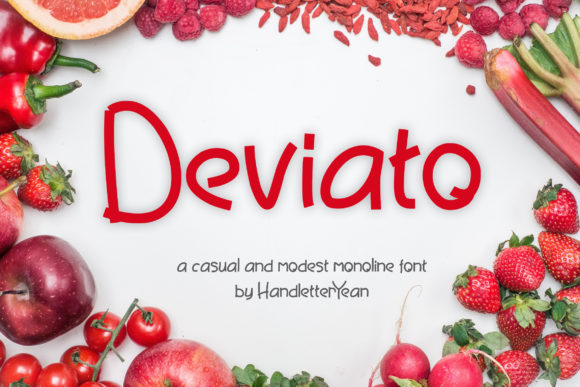 Print on Demand: Deviato Script & Handwritten Font By yean.aguste