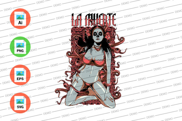 Devil Lady Graphic Illustrations By Skull and Rose - Image 3