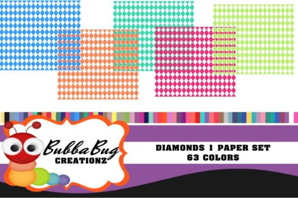 Diamonds Paper Set Graphic Patterns By BUBBABUG