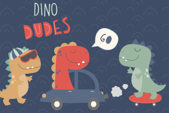 Print on Demand: Dino Dudes Graphic Illustrations By poppymoondesign