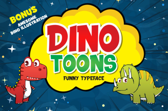 Print on Demand: Dinotoons Display Font By fachranheit