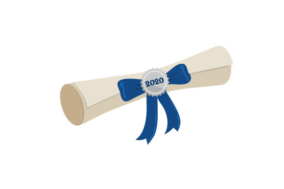 Diploma Wrapped with a Ribbon 2020 School & Teachers Craft Cut File By Creative Fabrica Crafts