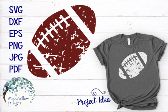 Download Free Distressed Football Svg Graphic By Wispywillowdesigns Creative for Cricut Explore, Silhouette and other cutting machines.