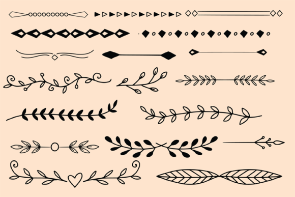 Dividers and Leaves Graphic Objects By carrtoonz - Image 3